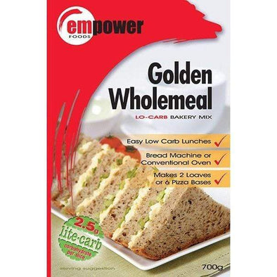 Empower Foods Bread Golden Wholemeal Pizza Base or Bread Bakery Mix 700g