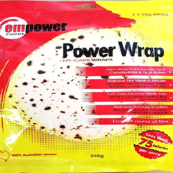 Low Carb Wraps - 7 x 35g - Empower Foods - Ketogenic Supplies