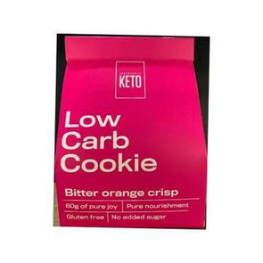 Low Carb Cookie- Bitter Orange Crisp - Essentially Keto 2 Pack -60g - Ketogenic Supplies