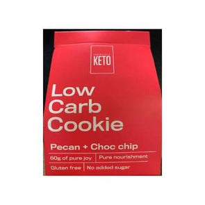 Low Carb Cookie- Pecan Choc Chip - Essentially Keto 2 Pack -60g - Ketogenic Supplies