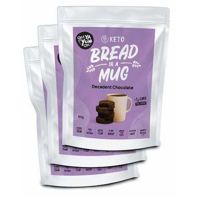 Get Ya Yum On Bread Bread in a Mug - Decadent Chocolate 3 Pack  - Get Ya Yum ON