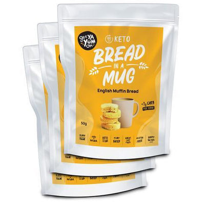 Get Ya Yum On Bread Bread in a Mug - English Muffin 3 Pack  - Get Ya Yum ON