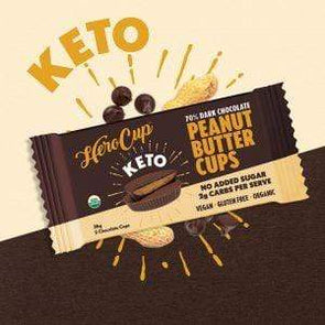 Keto Hero Cup - Peanut Butter - 70% Dark Choc -36g - Ketogenic Supplies