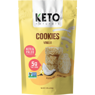 Keto Cookies Vanilla - 64g Keto Naturals - Ketogenic Supplies