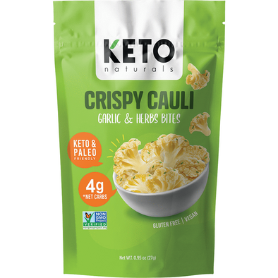 Crispy Cauli - Garlic & Herbs Bites - 27g  Keto Naturals - Ketogenic Supplies