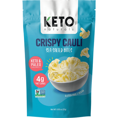 Crispy Cauli - Sea Salted Bites - 27g  Keto Naturals - Ketogenic Supplies