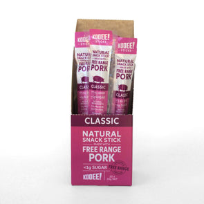 Kooee Jerky Kooee Sticks - Free Range Pork - Classic- Box of 20 x 25g