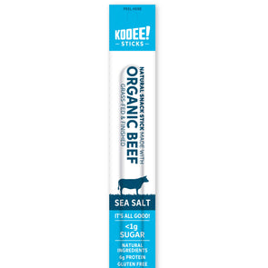 Kooee Jerky Kooee Sticks - Organic Beef - Sea Salt - 25g