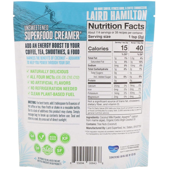 Laird Hamilton - Superfood Creamer - 227g - Ketogenic Supplies