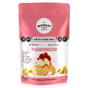 Keto Cake Mix - Classic Vanilla Sponge - Monday Food Co. 250g - Ketogenic Supplies