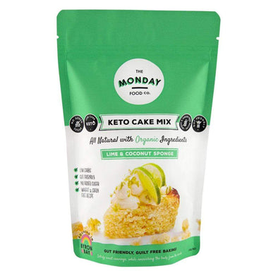 Monday Cake Keto Cake Mix - Lime & Coconut Sponge - Monday Food Co. 250g