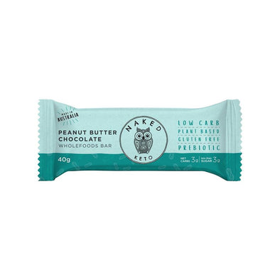 Naked Paleo protein bar Peanut Butter Chocolate Keto Bar - 40g - Naked Paleo