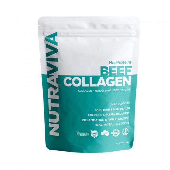 Grass Fed & Finished Collagen Hydrolysate  - Nutraviva 450g - Ketogenic Supplies