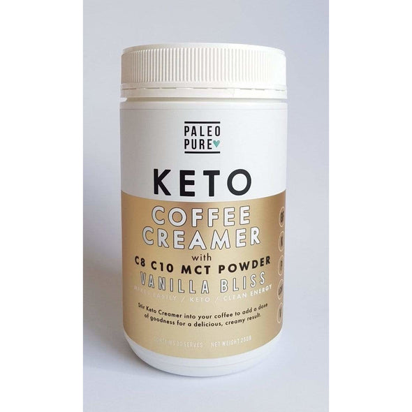 Keto Coffee Creamer - Vanilla Bliss - Paleo Pure - 250g - Ketogenic Supplies