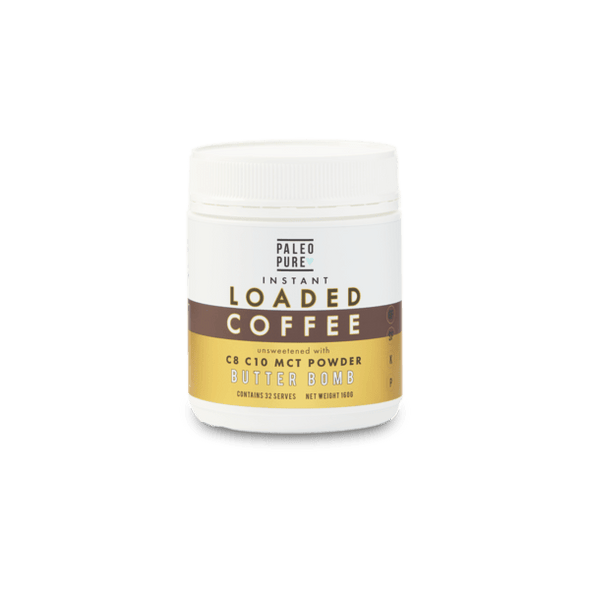 Paleo Pure coffee Keto Loaded Instant Coffee + MCT  - Butter Bomb - Paleo Pure  160g