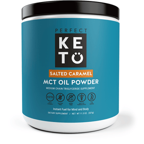 MCT Powder  - Salted Caramel Flavoured - Perfect Keto 327g - Ketogenic Supplies