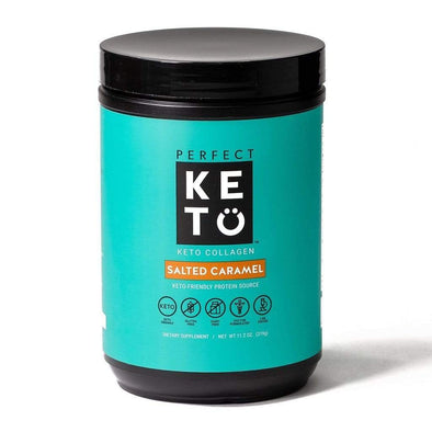 Keto Collagen Low Carb Protein with MCT - Salted Caramel 319g - Ketogenic Supplies