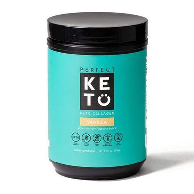 Keto Collagen Low Carb Protein with MCT - Vanilla 314g - Ketogenic Supplies
