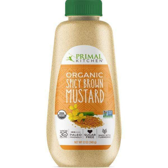 Spicy Brown Mustard Zero Carb Organic- 340g - Primal Kitchen - Ketogenic Supplies