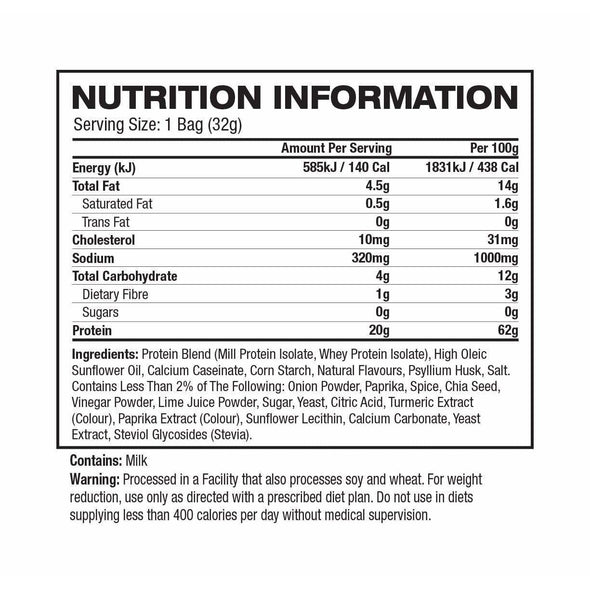 Quest Protein Chips  Chili Lime - 32g - Ketogenic Supplies