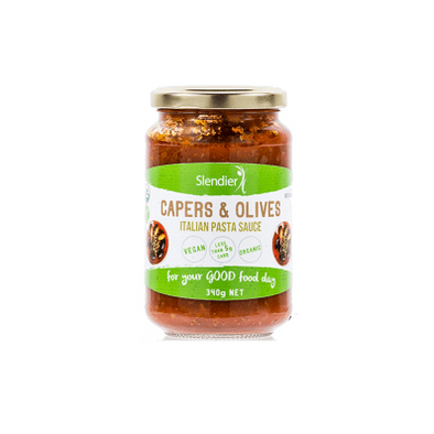 Slendier Pasta Sauce Keto Pasta Sauce - Capers & Olives - 340g
