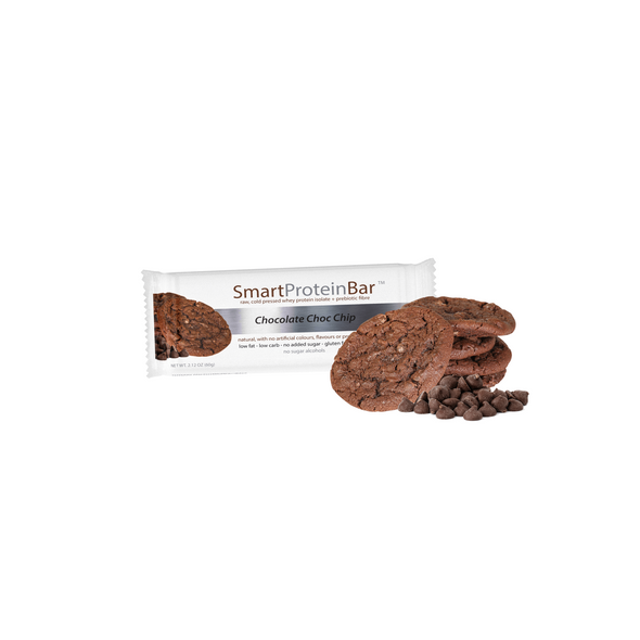 Smart Protein Bar - Chocolate Choc Chip - Box of 12 - 720g - Ketogenic Supplies