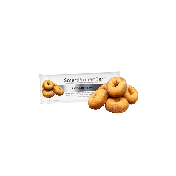 Smart Protein Bar - Cinnamon Donut - Box of 12 - 720g - Ketogenic Supplies