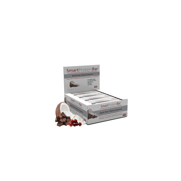 Smart Protein Bar - Dark Choc Cherry Coconut - Box of 12 - 720g - Ketogenic Supplies
