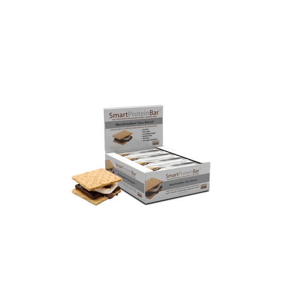 Smart Protein Bar - Marshmallow Choc Biscuit - Box of 12 - 720g - Ketogenic Supplies