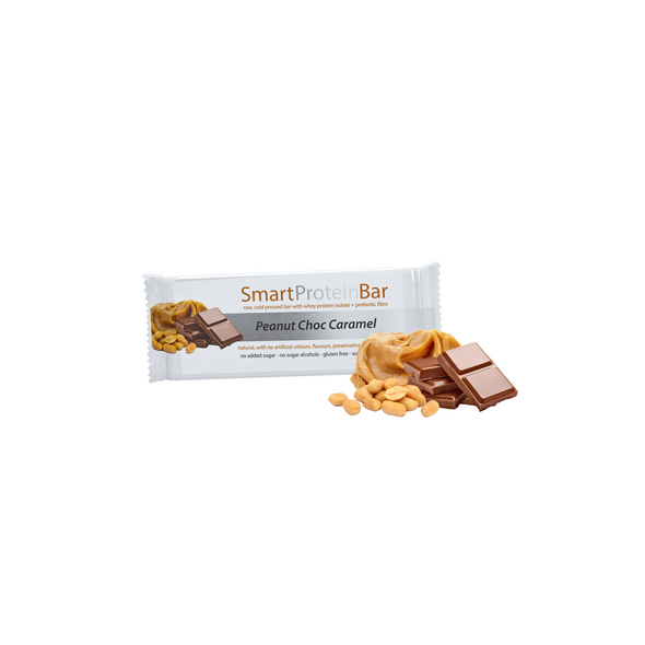 Smart Protein Bar - Peanut Choc Caramel - Box of 12 - 720g - Ketogenic Supplies