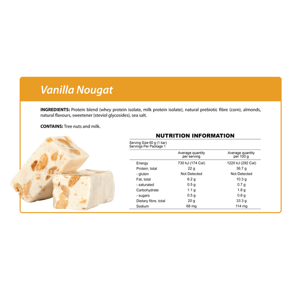 Smart Protein Bar - Vanilla Nougat - 60g - Ketogenic Supplies