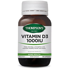 Vitamin D3 - Thompsons Health 240 Capsules - Ketogenic Supplies