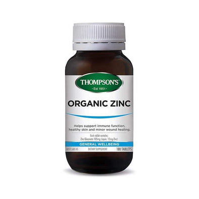 Thompsons Organic Zinc - 80 Tablets - Ketogenic Supplies