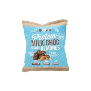 Protein Milk Keto Chocolate Coated Almonds - 60g - Ketogenic Supplies