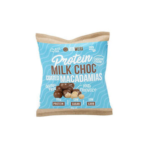 Protein Milk Keto Chocolate Coated Macadamias - 60g - Ketogenic Supplies