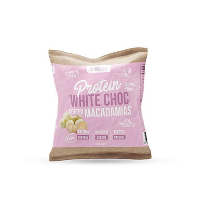 Protein White Keto Chocolate Coated Macadamias - 60g - Ketogenic Supplies