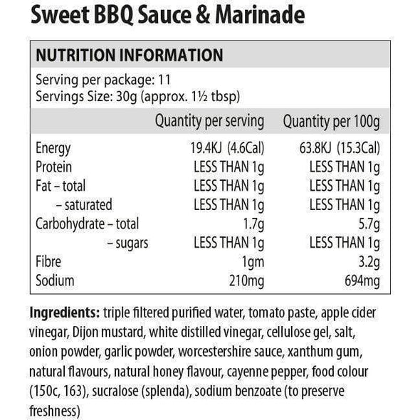 Sweet BBQ Sauce & Marinade - Walden Farms - Ketogenic Supplies