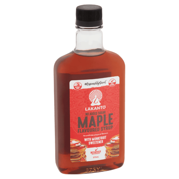 Walden Farms Maple Syrup Maple Flavoured Syrup with Monkfruit - Lakanto - 375ml