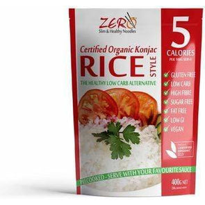 Rice - Certified Organic Konjac by ZERO 400g - Ketogenic Supplies