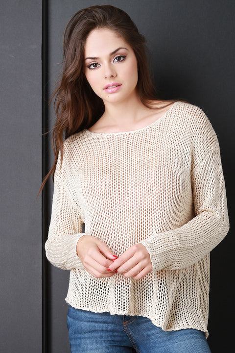Chunky Loose Knit Boxy Sweater