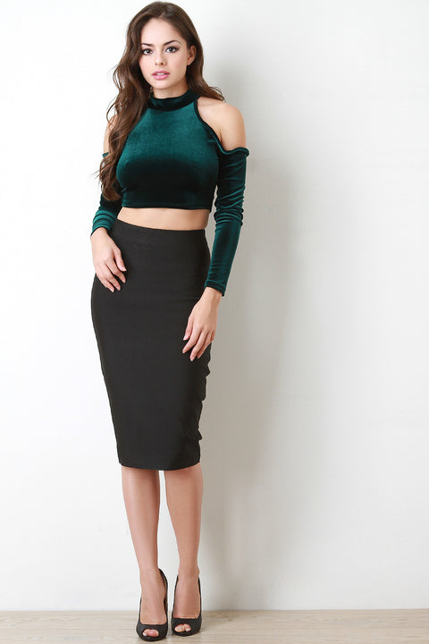 Thick Bandage Knit Pencil Skirt