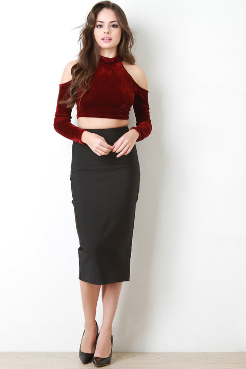 Bandage Knit Midi Skirt
