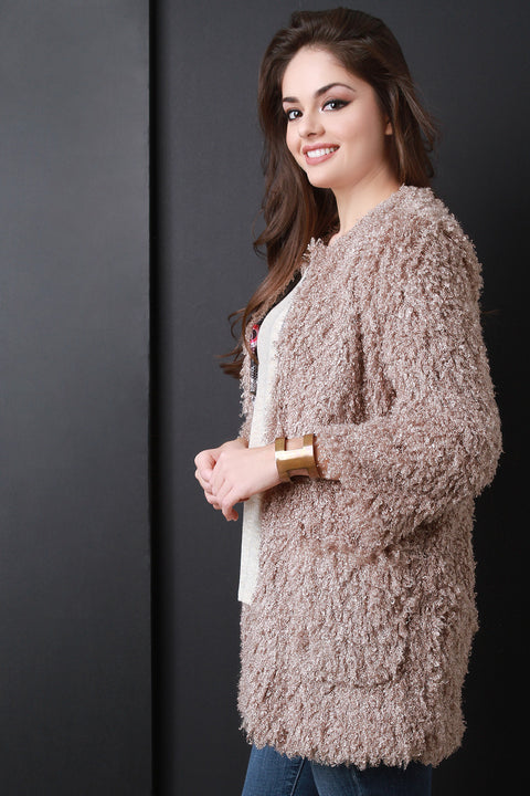 Boxy Soft Shaggy Jacket