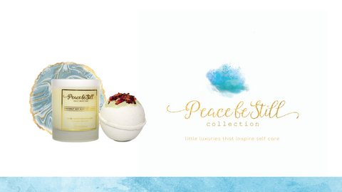 Peace be still collection candles bath bombs