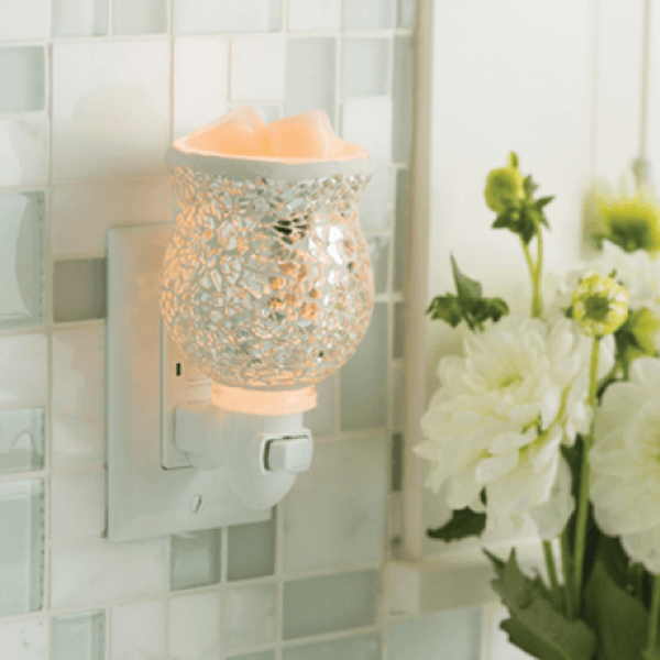 Silver Mosaic pluggable fragrance warmer