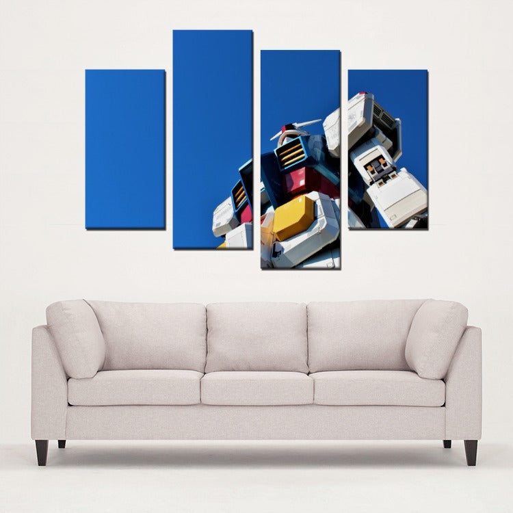 Gundam 4 Panels Canvas Prints Wall Art for Wall Decorations