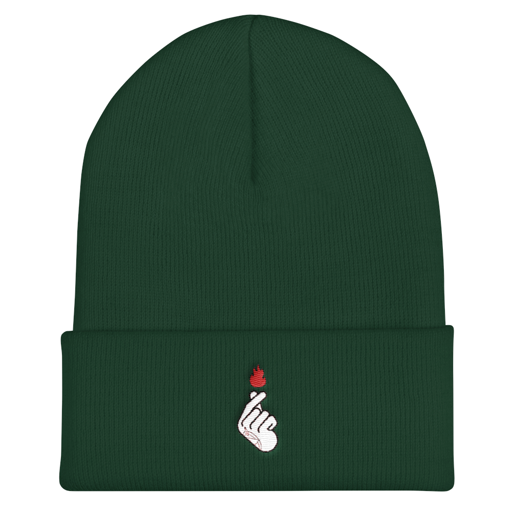 Flame Alchemy X Korean Finger Heart Beanie