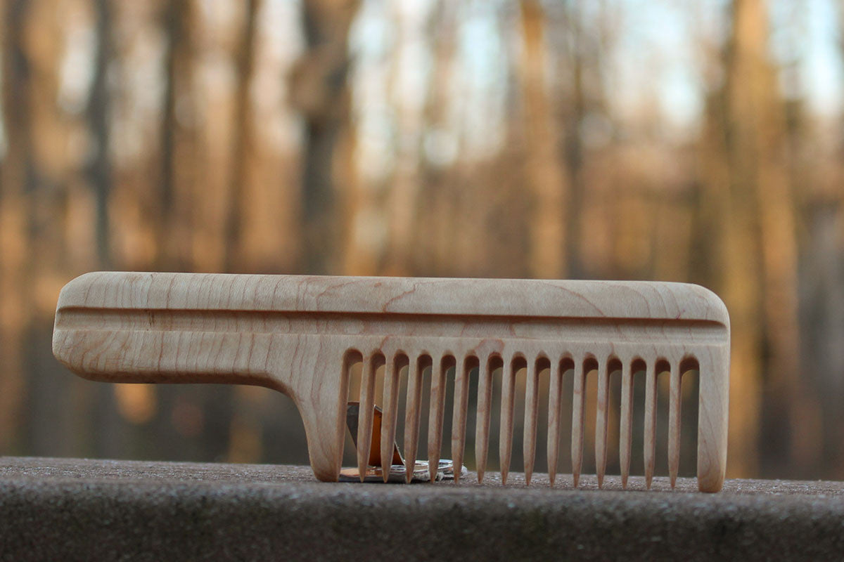 Classic-looking handmade wooden comb. Specially designed for your beard. Nothing beats the classics.