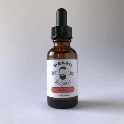 Premium Beard Oil with a woodsy scent and a hint of molasses