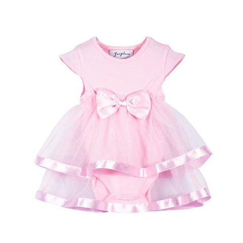 Princess-Bow Romper Dress